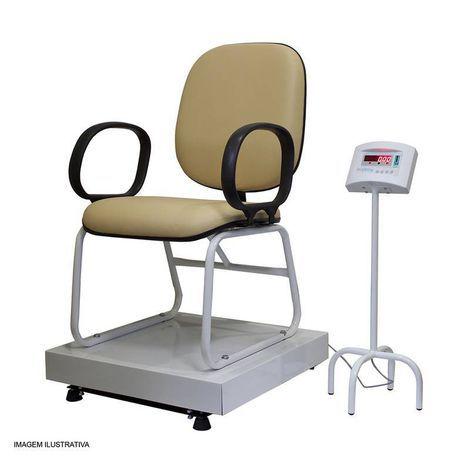 Balança Digital com Cadeira na Plataforma 60x60 300kg Divisão 50g W-300 Confort Welmy