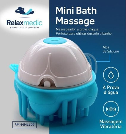Massageador Elétrico de Banho Mini Bath Relaxmedic