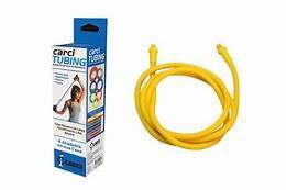 Carci Tubing Tubos Elásticos para Alongamento e Exercícios Amarelo Carci