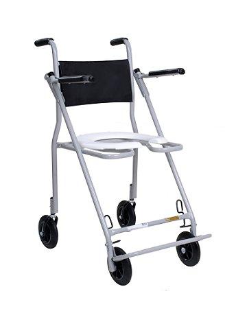 Cadeira de Banho Dobrável para Idosos ou Enfermos com Braços Escamoteáveis Compacta CDS