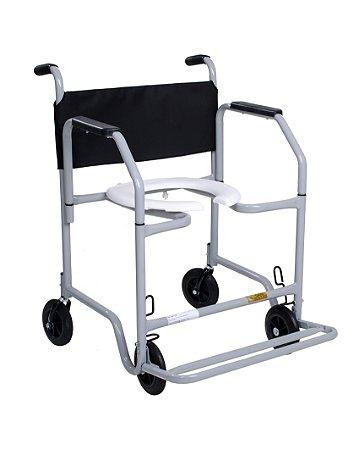 Cadeira de Banho para Obeso com Braços removíveis e Pés escamoteáveis 120kg CDS