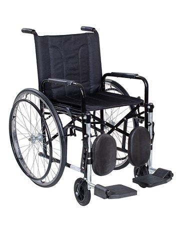 Cadeira de Rodas com Pneus Infláveis Braços Removíveis e Elevação de Panturrilha CDS