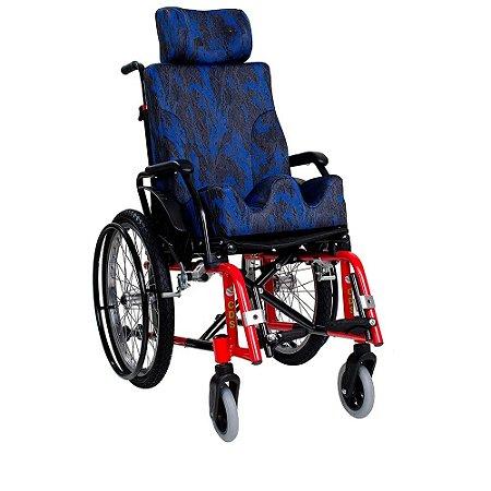 Cadeira de Rodas Infantil de Aço com Pneus Infláveis e Módulo CDS