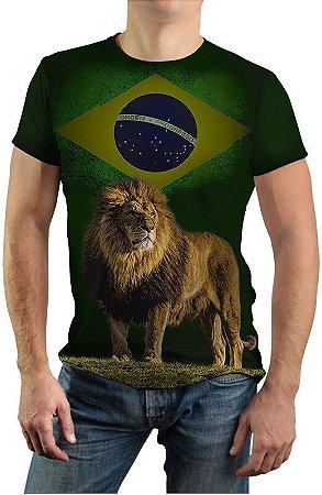 Camiseta Com Estampa de Leão