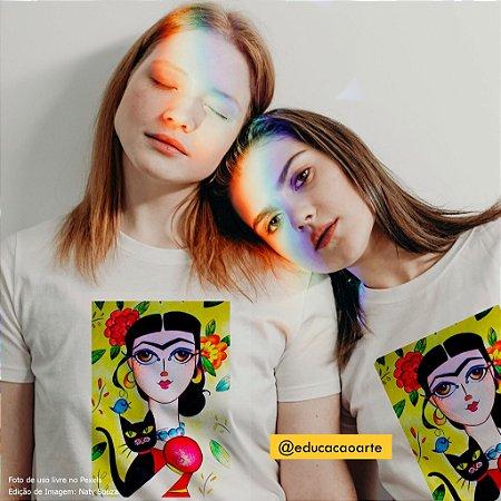 Frida and cats (algodão)