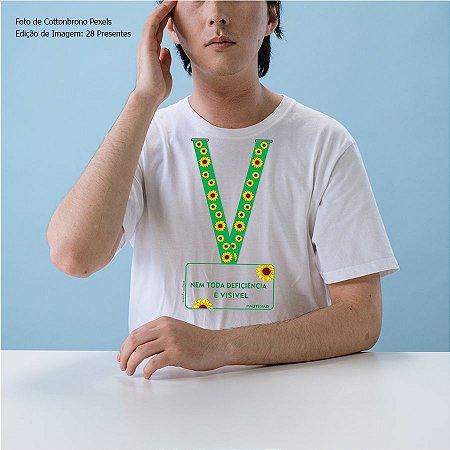 Camiseta Cordão de girassol #autismo (Algodão)