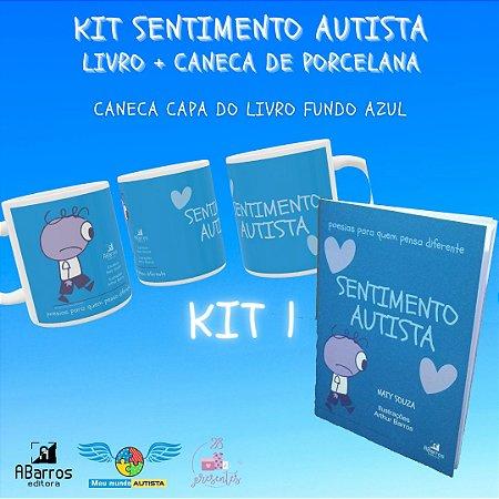 Kit Sentimento Autista: Caneca de porcelana + livro