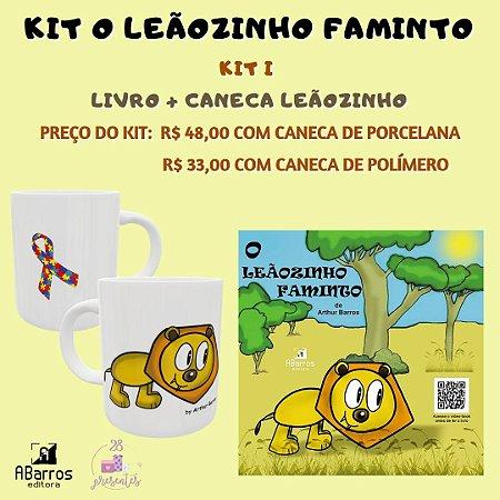 Kit Livro O Leãozinho Faminto - Livro + Caneca