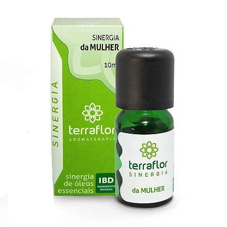 Sinergia Natural de Óleos Essenciais da Mulher - Terra Flor -10 mL