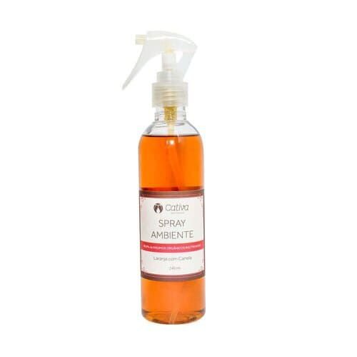 Spray de Ambiente Laranja com Canela- Cativa natureza - 240 mL