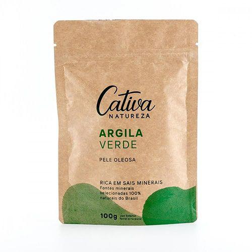 Argila Verde Cativa natureza - 100 g
