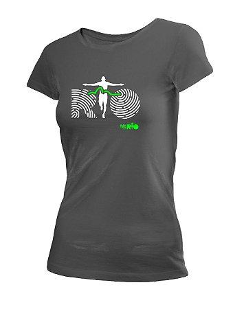 Camiseta Algodão Estonada Maratona do Rio Feminina