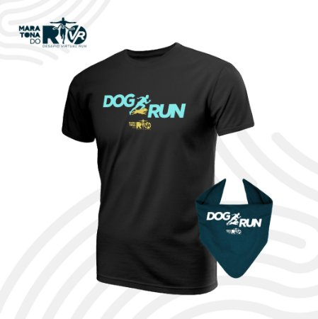 Kit Desafio Dog Run Camiseta e Bandana pet Masculino