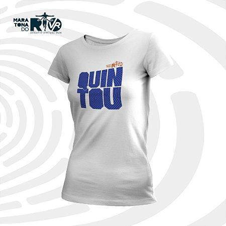 Camiseta Feminina Branca Desafio Quintou