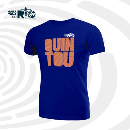 Camiseta Masculina Azul Desafio Quintou
