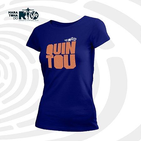 Camiseta Feminina Azul Desafio Quintou