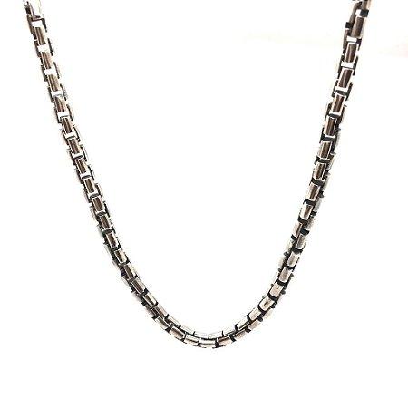 Corrente elos quadrados em prata 925