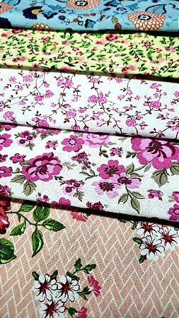5 cortes póas + 5 cortes Florais Cortes de 1,00 x 1,50 mt