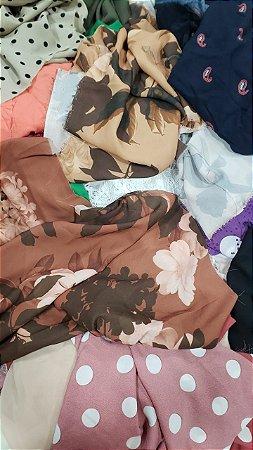 kit 5 kg Retalhos para tapetes Cortes pequenos