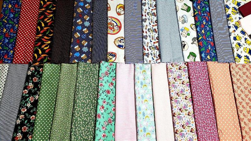 kit 20 cortes tricoline 100% algodão  0,50cmx 0,30 cm + 4 cortes de 0,50 x1,50 metro tricoline liso