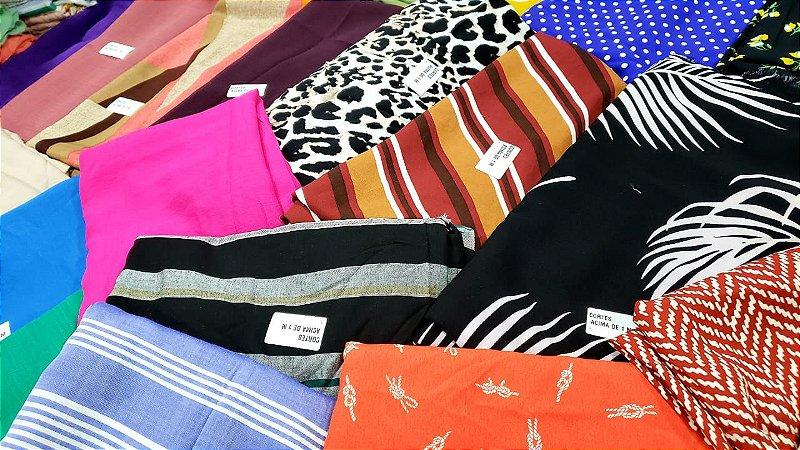 Coleção premium kit 6 kg de tecidos planos cortes acima de 1 metro