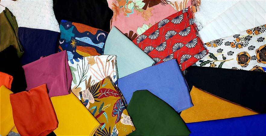 Coleção premium kit 6 kg de tecidos planos + Aviamentos de Brinde