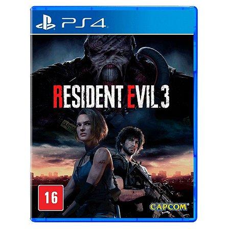 JOGO RESIDENT EVIL 3 REMAKE PS4
