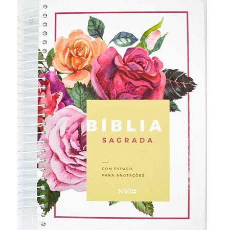 Bíblia Sagrada Anote NVI Espaço Anotações Floral