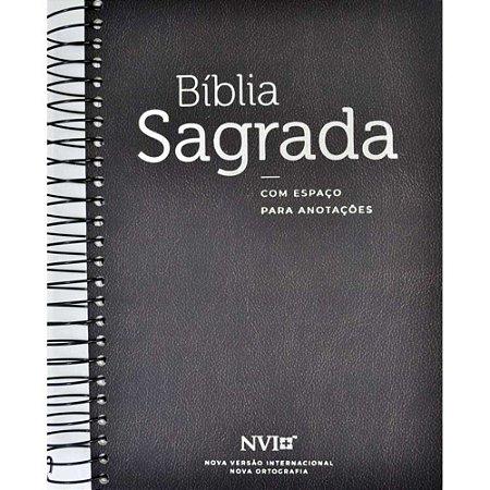Bíblia Sagrada Anote NVI Espaço Anotações Espiral Zebra