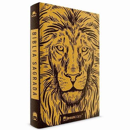Bíblia Sagrada NVI JesusCopy Leão Dourado