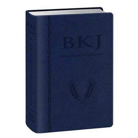 Bíblia King James Fiel 1611 Estudo Holman Azul