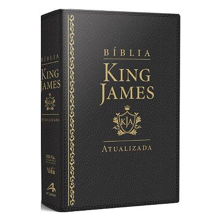 Bíblia Sagrada King James Atualizada Letra Grande Luxo Preta