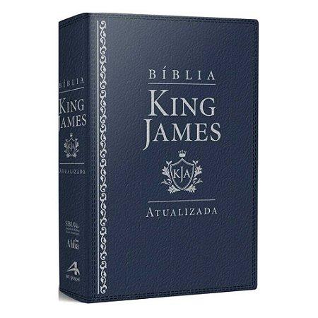 Bíblia Sagrada King James Atualizada Letra Grande Luxo Azul