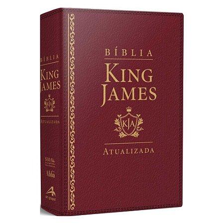 Bíblia Sagrada King James Atualizada Letra Grande Luxo Vinho