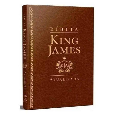 Bíblia Sagrada King James Atualizada Slim KJA Marrom Luxo