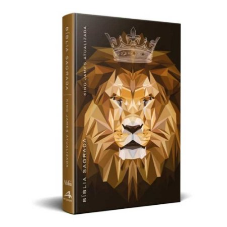 Bíblia Sagrada  King James Atualizada KJA - Média Capa Dura Rei Dos Reis Geométrico