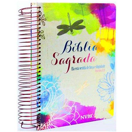 Bíblia Anote NVI com Espaço Para Anotações Ela Está Vestida de Força e Dignidade