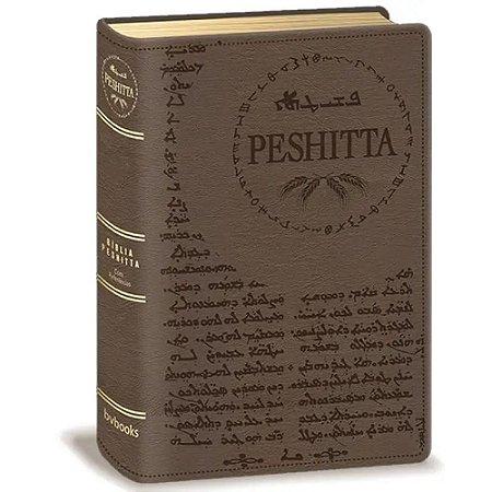 Bíbliade de Estudo Peshitta (Luxo Marrom)