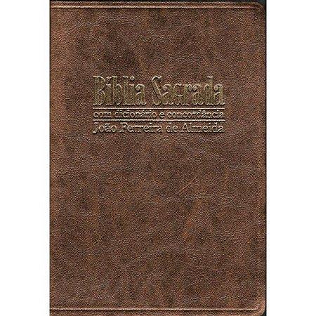 Bíblia Sagrada Revista Corrigida Letra Gigante com Dicionário e Concordância Luxo Bronze