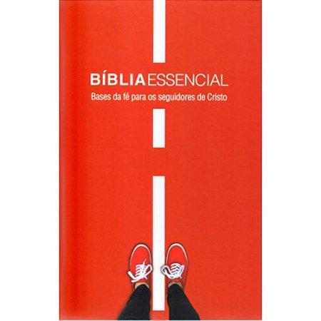 Bíblia Sagrada Essêncial Bases da Fé Capa Dura Vermelha