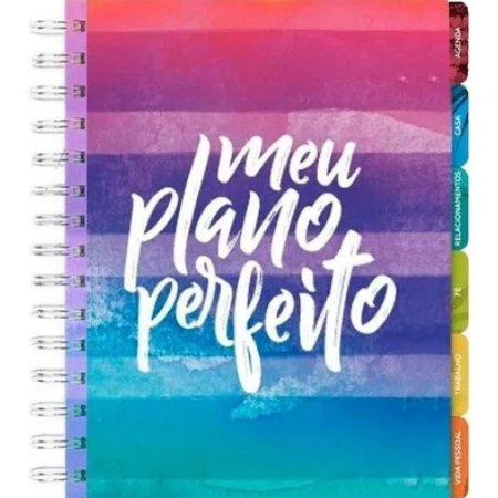 Agenda Feminina Meu Plano Perfeito Planner Capa Colorida