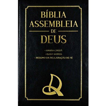 Bíblia das Assembleias de Deus Preta Capa Logo