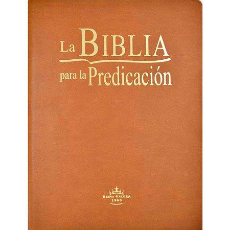 La Bíblia para la Predicacion Marrom Claro