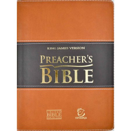 Bíblia de Estudo Preacher's Bible King James Version Marrom e Preta