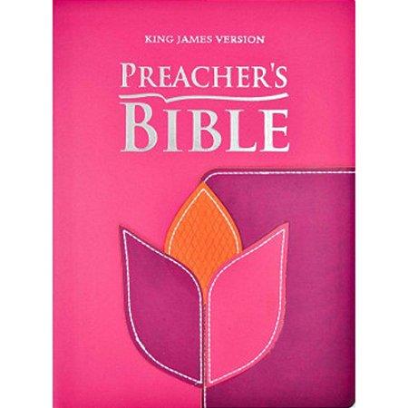 Bíblia de Estudo Preacher's Bible King James Version Capa Flor Rosa