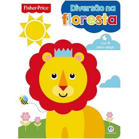 Livro Infantil Fisher Price Diversão na floresta com quebra-cabeça