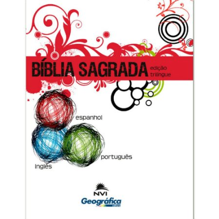 Bíblia Sagrada Edição Trilíngue Capa Brochura Branca