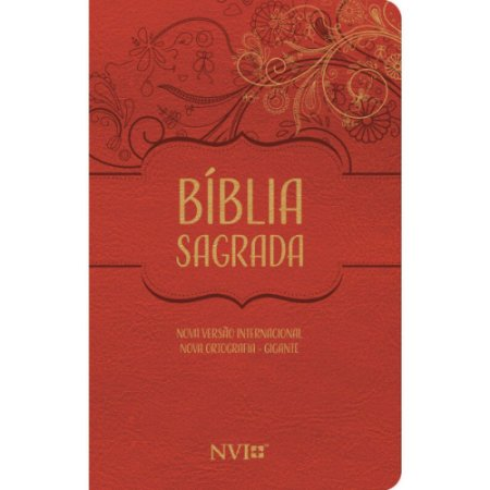 Bíblia Sagrada NVI Gigante Nova Ortografia Capa Luxo Vermelha