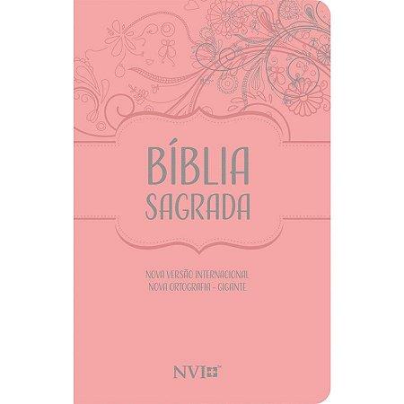Bíblia Sagrada NVI Gigante Nova Ortografia Capa Luxo Nude