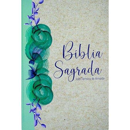 Bíblia Sagrada Almeida Revista Corrigida Letra Gigante Reciclato Floral Capa Dura